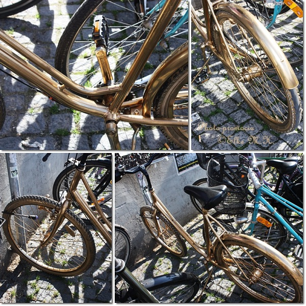 GoldCollageBike