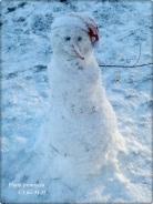 kleiner Schneeman 28-12-2015