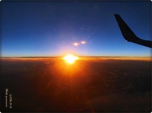 Morgensonne über den Wolken