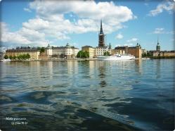 Blick auf Ritterholmen-Stockholm