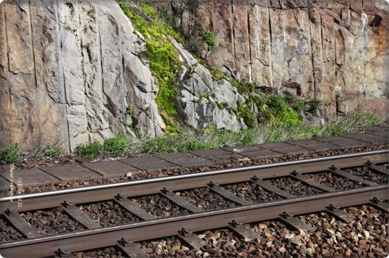 Gleisbettung aus Schotter