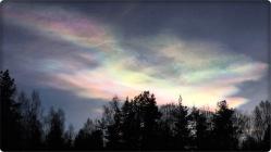 Pärlemormoln över Falun -Foto: G.H.V.