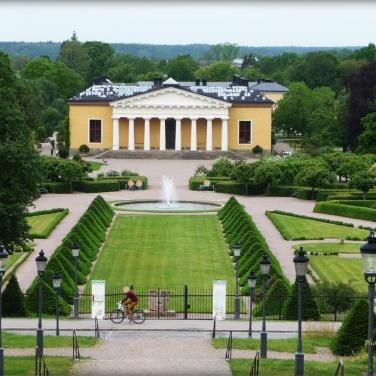 Blick vom Schloss zum Botanischen Garden