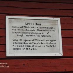Schild zum Arrest