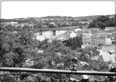 Blick auf die Elbe und Meissen vom Burgberg